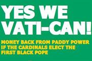 Paddy Power: latest press ad focuses on the forthcoming papal election