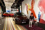 The space is designed like a fashion shop