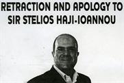 Ryanair: apologises to Sir Stelios Haji-Iannou