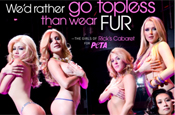 Peta: features strippers in newest anti-fur campaign