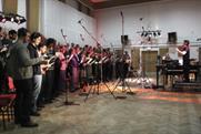 A music recording inside Abbey Road Studios