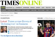 Times Online: suggested paywall unpopular with public