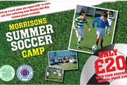 Morrisons sponsor Soccer Camp in Scotland