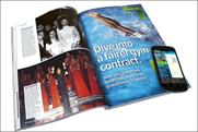 Marie Claire: publishes NFC-enabled ad in its December issue