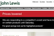 John Lewis reacts to House of Fraser sale with tactical email campaign
