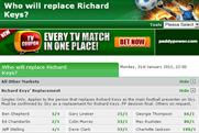 Paddy Power: releases odds for Richard Keys' replacement