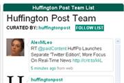 Huffington Post: unveils new Twitter edition