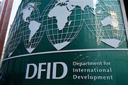 DFID: seeks to publicise its humanitarian efforts in the Middle East