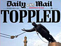 Daily Mail: front cover of fall of Saddam Hussein