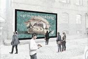 Deliveroo creates billboard out of burgers