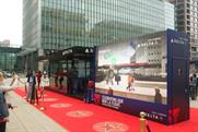 The activation features a Walk of Fame-style red carpet