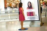 The screens will be launched in UK shopping centres