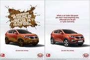 Kia: runs 'scratchable' ad in The Telegraph Magazine