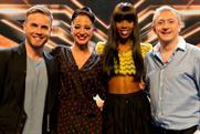 The X Factor: judges Gary Barlow, Tulisa Contostavlos, Kelly Rowland and Louis Walsh