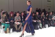 Models on the catwalk at Vauxhall Fashion Scout
