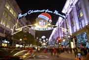 The lights on Oxford Street