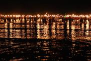 2,012 torchbearers wade into the sea at Weymouth