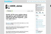 Asos looks to Twitter to source digital agency