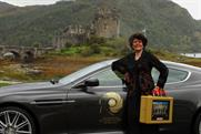 Eunice Gayson: at Eilean Donan Castle in the Scottish Highlands