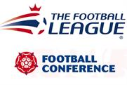 Football League and Football Conference without sponsors