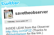 Save the Observer: Twitter group fights for the paper's future