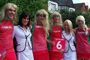 Npower and Marston's in Ashes promo girls bust-up