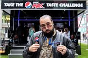 Chabuddy G practises selfie game for Pepsi Max