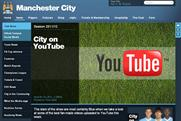 Manchester City: pushes YouTube content