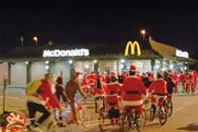 McDonald's: cycling Santas star in fast-food giant's festive ad campaign