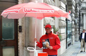 Street scene: The Economist will be available to buy from vendors in London every Friday