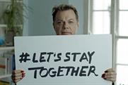 Eddie Izzard:  takes part in 'let's stay together' ad