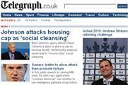 Telegraph.co.uk: fall in online readership