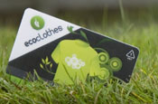 Ecocard: made from a recyclable plastic