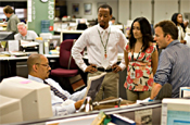 The Wire: The Baltimore Sun newsroom is portrayed in the series