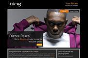 Bing: teams up with Dizzee Rascal