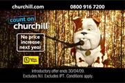 Churchill performs karaoke in the new ad