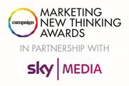 Sky Media revealed as headline partner of Campaign's Marketing New Thinking Awards 2018