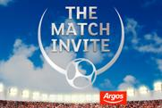 Argos: The Match Invite forms part of retailer's summer promotion
