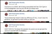 Coronavirus misinformation slipping through Facebook's ad review system