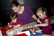 Children and parents take part in the first Family Arts Festival