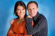 Real Radio Breakfast Show hosts Angela Jay and Tony Wright