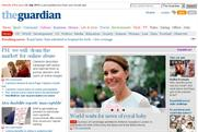 Guardian website: users offered the opportunity to avoid reading royal baby content