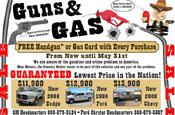 Guns and Gas: handgun promotion