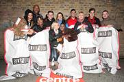 Volunteers braved the cold for Centrepoint (Harriet Armstrong)