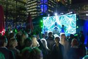 RPM's UV-light activation at Heineken's latest Design Night event