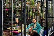 Rebecca Louise Law and Matthew Williamson helped to bring the Hendrick's Horticultural Oasis to life
