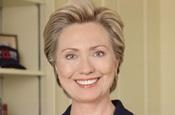 Clinton: taking part in online debate