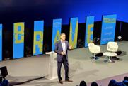 Mars CMO Andrew Clarke onstage at the Marketing Society Brave Conference