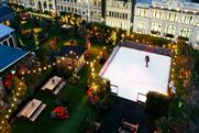 John Lewis partners Sipsmith for skating and cocktails