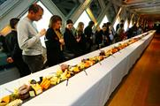 The cheeseboard spanned the entire length of Tower Bridge walkway